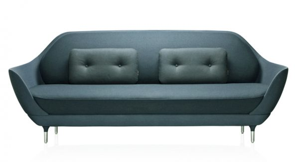 Suki Sofa Steel Blue Velvet