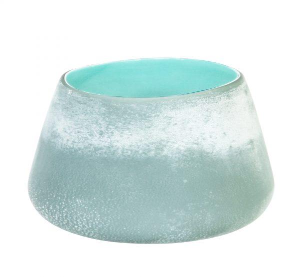 Forme Vase Low Aquamarine