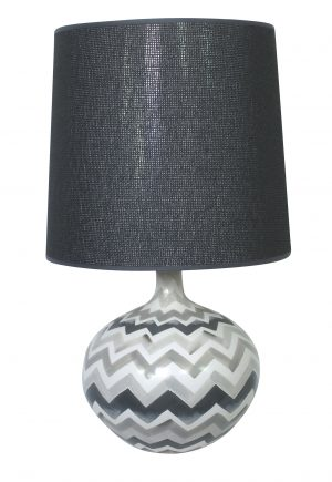 Bolero Hand Painted Lamp Grey