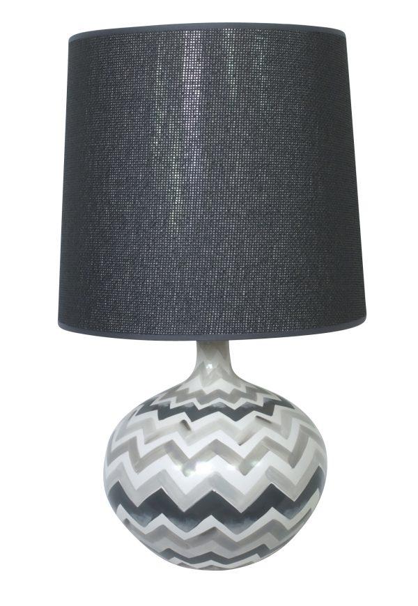 Bolero Hand Painted Lamp Grey