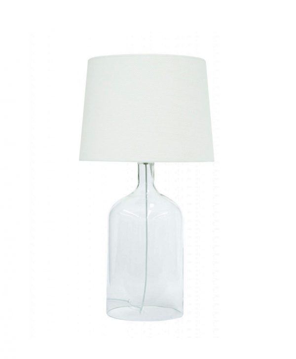 Bell Clear Glass Lamp Small