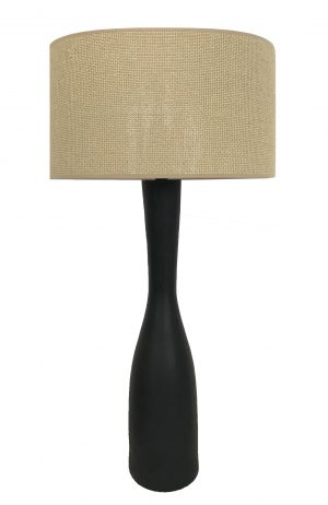 Callum Table Lamp Black-Nat Weave