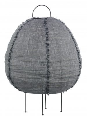 Nendo Lamp Small Charcoal Marle