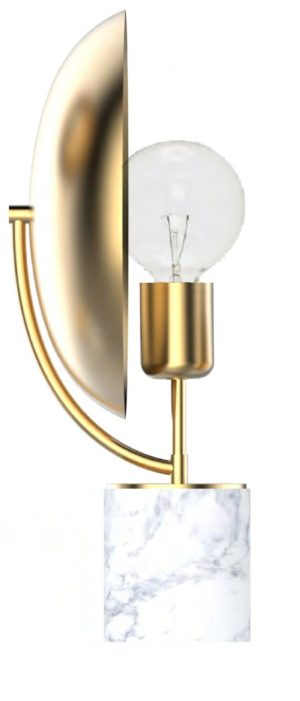 Eclipse Lamp Brass - Marble
