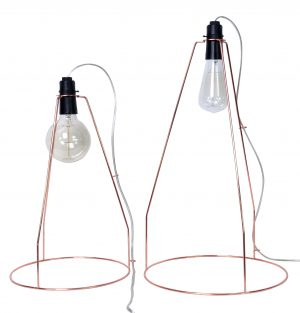 Trapeze Lamp Lrg Copper
