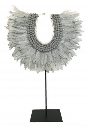 Zambezi Feather Collar Grey
