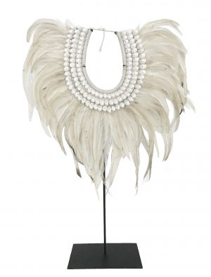 Zambezi Feather Collar Natural