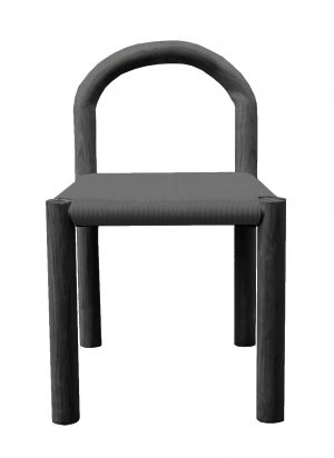 Bow Dining Chair Black