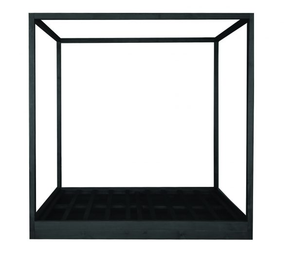 Cubic 4 Post Bed Black