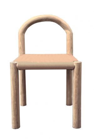 Bow Dining Chair Natural