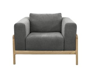 Gustav Chair Dark Grey Marle