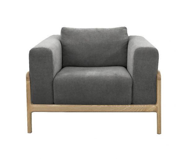 Gustav Chair Dark Grey Marle