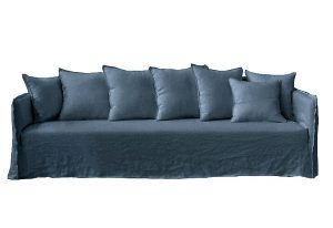 Casper Sofa Indigo Linen