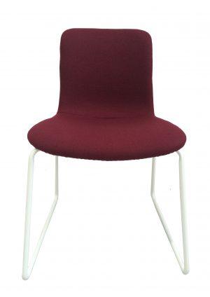 Ona Dining Chair White / Marsala