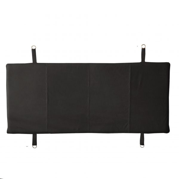 Favela Leather Bed Head Black