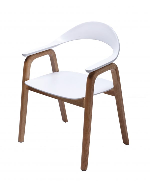 Gia Dining Chair Natural / White
