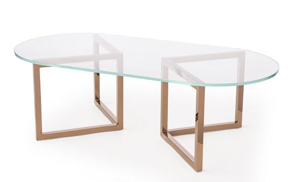 Meta System Glass Top 1200 x 600 Oval Clear
