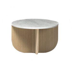 Gitta Side Table Natural / Marble