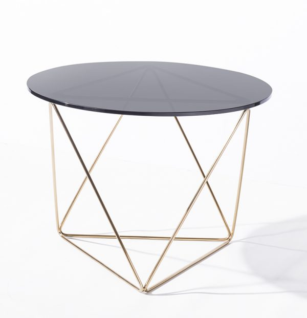 Metageo Side Table Brass