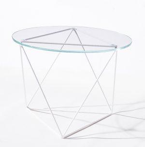 Metageo Side Table White