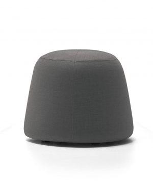 Pippa Velvet Ottoman Small Grey