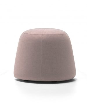 Pippa Velvet Ottoman Small Dusty Pink