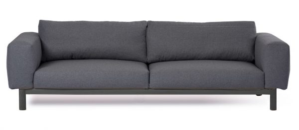 Sigh 4 Seat Sofa Charcoal / Blk Legs